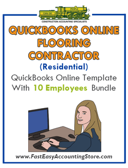 Flooring Contractor Residential QuickBooks Online Setup Template With 0-10 Employees Bundle - Fast Easy Accounting Store
