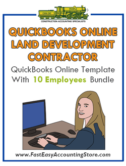 Land Development Contractor QuickBooks Online Setup Template With 0-10 Employees Bundle