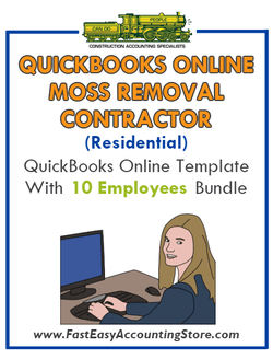 Moss Removal Contractor Residential QuickBooks Online Setup Template With 0-10 Employees Bundle - Fast Easy Accounting Store