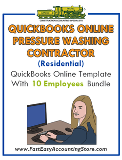 Pressure Washing Contractor Residential QuickBooks Online Setup Template With 0-10 Employees Bundle - Fast Easy Accounting Store