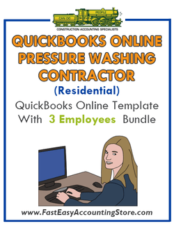 Pressure Washing Contractor Residential QuickBooks Online Setup Template With 0-3 Employees Bundle - Fast Easy Accounting Store