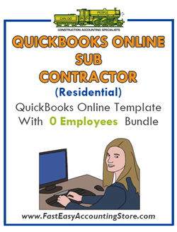 Subcontractor Residential QuickBooks Online Setup Template With 0 Employees Bundle - Fast Easy Accounting Store