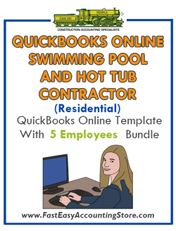 Swimming Pool And Hot Tub Contractor Residential QuickBooks Online Setup Template With 0-5 Employees Bundle - Fast Easy Accounting Store