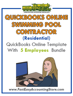 Swimming Pool Contractor Residential QuickBooks Online Setup Template With 0-5 Employees Bundle - Fast Easy Accounting Store
