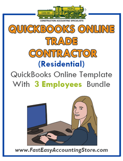 Trade Contractor Residential QuickBooks Online Setup Template With 0-3 Employees Bundle - Fast Easy Accounting Store