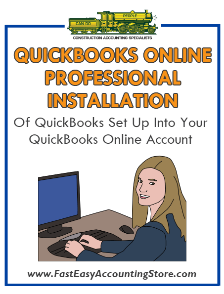 .Professional Installation Of QuickBooks Setup Template Into QuickBooks Online - Fast Easy Accounting Store