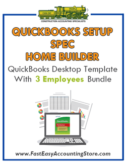 Spec Home Builder QuickBooks Setup Desktop Template With 3 Employees Bundle