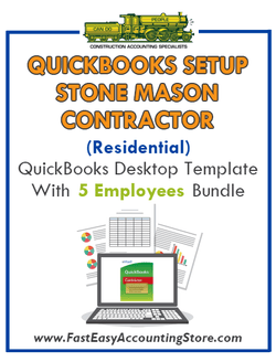 Stone Mason Contractor Residential QuickBooks Setup Desktop Template 0-5 Employees Bundle - Fast Easy Accounting Store