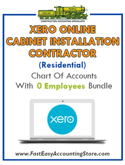 Cabinet Installation Contractor Residential Xero Online Chart Of Accounts With 0 Employees Bundle - Fast Easy Accounting Store