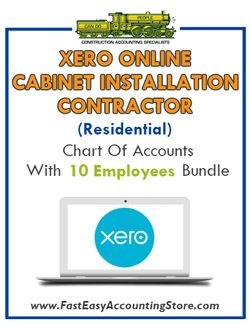 Cabinet Installation Contractor Residential Xero Online Chart Of Accounts With 0-10 Employees Bundle - Fast Easy Accounting Store