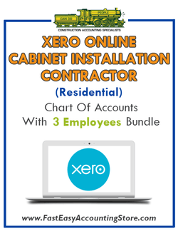 Cabinet Installation Contractor Residential Xero Online Chart Of Accounts With 0-3 Employees Bundle - Fast Easy Accounting Store