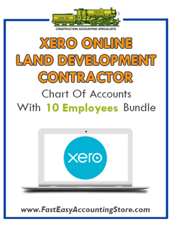 Land Development Contractor Xero Online Chart Of Accounts With 0-10 Employees Bundle
