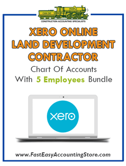 Land Development Contractor Xero Online Chart Of Accounts With 0-5 Employees Bundle