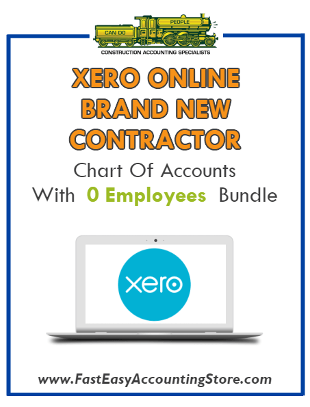 Brand New Contractor Xero Online Chart Of Accounts With 0 Employees Bundle - Fast Easy Accounting Store