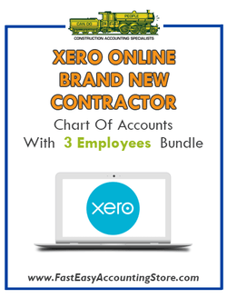 Brand New Contractor Xero Online Chart Of Accounts With 0-3 Employees Bundle - Fast Easy Accounting Store