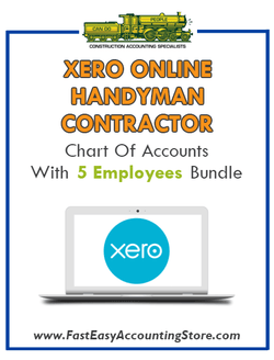 Handyman Contractor Xero Online Chart Of Accounts With 0-5 Employees Bundle