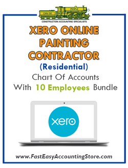 Painting Contractor Residential Xero Online Chart Of Accounts With 0-10 Employees Bundle - Fast Easy Accounting Store