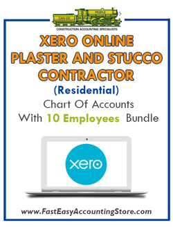 Plaster And Stucco Contractor Residential Xero Online Chart Of Accounts With 0-10 Employees Bundle - Fast Easy Accounting Store