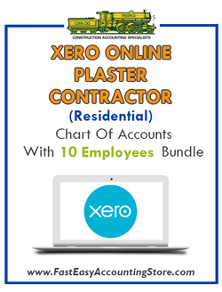 Plaster Contractor Residential Xero Online Chart Of Accounts With 0-10 Employees Bundle - Fast Easy Accounting Store