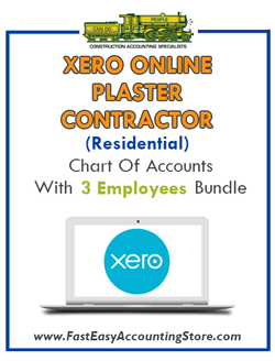 Plaster Contractor Residential Xero Online Chart Of Accounts With 0-3 Employees Bundle - Fast Easy Accounting Store