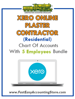 Plaster Contractor Residential Xero Online Chart Of Accounts With 0-5 Employees Bundle - Fast Easy Accounting Store