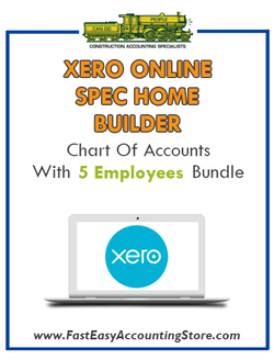 Spec Home Builder Xero Online Chart Of Accounts Template With 0-5 Employees Bundle