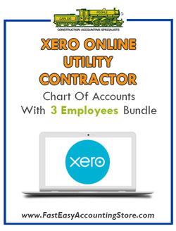 Utility Contractor Xero Online Chart Of Accounts With 0-3 Employees Bundle - Fast Easy Accounting Store