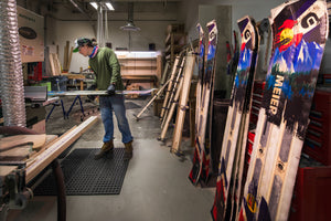 Handmade skis crafted in Denver, Colorado, USA. Meier Ski Factory