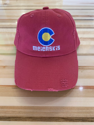 Distressed Colorado Flag Ball Cap