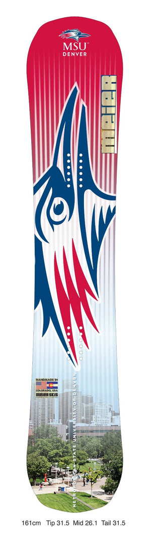 MSU Denver Custom Snowboard