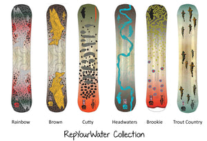 Brown Snowboard - RepYourWater Collection