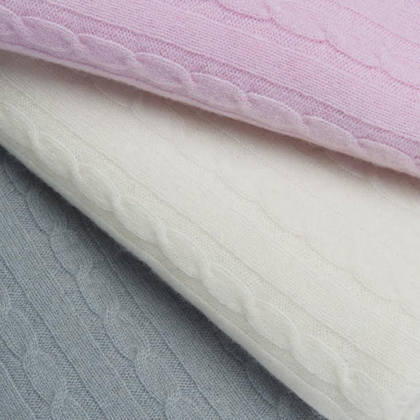 Luxury Super Large & Soft 100% Cashmere Baby Blanket - Baby Pink * eco-friendly