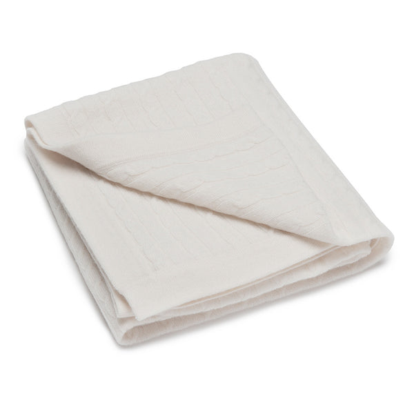 Luxury Super Large & Soft 100% Cashmere Baby Blanket - Baby Ivory * eco-friendly