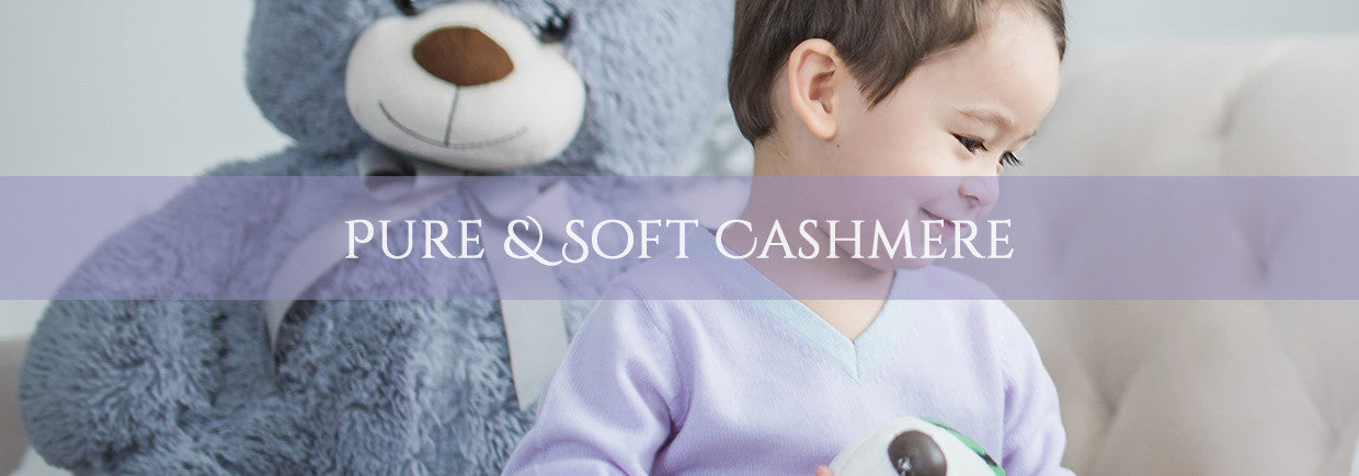 Luxury Kids Cashmere Knitwear - Pure and Soft Cashmere