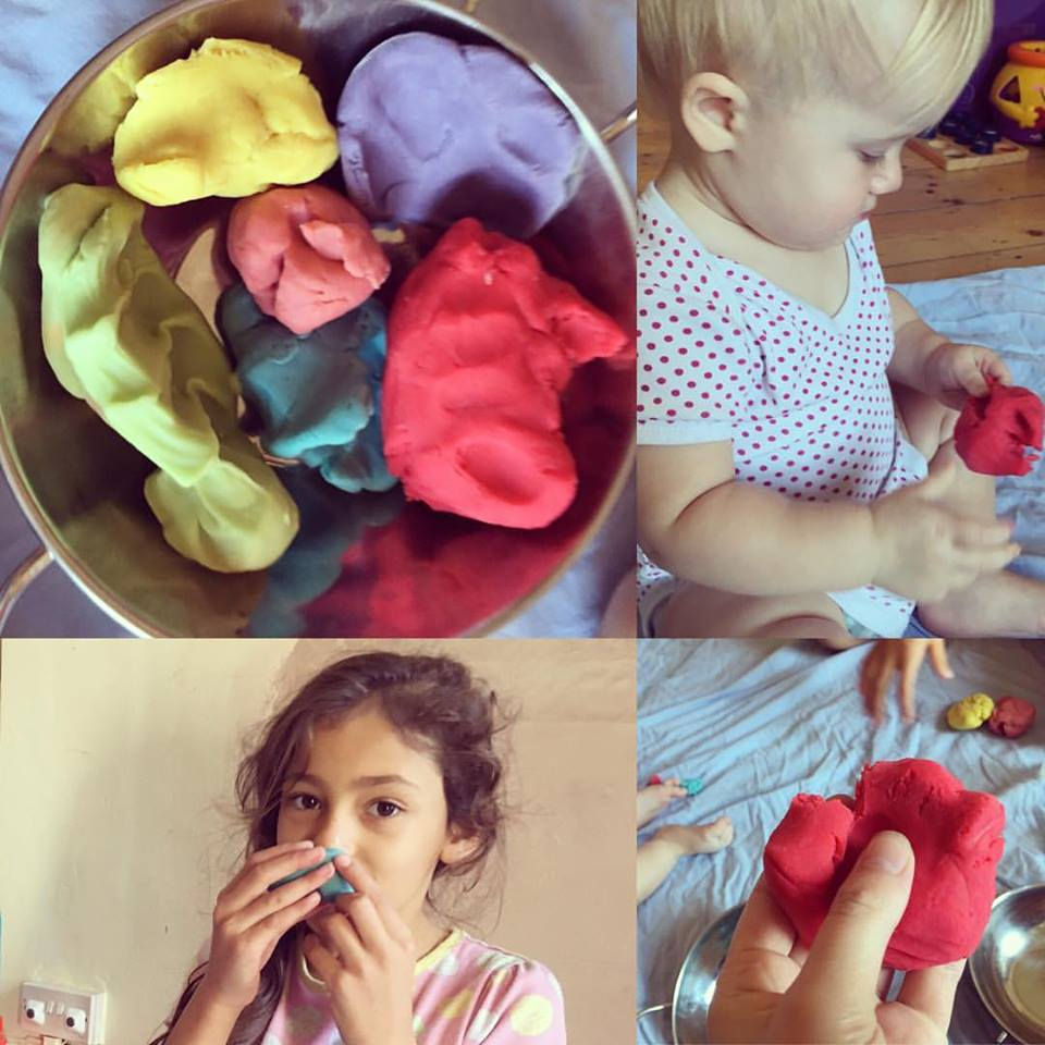 Home Made Play Dough....No cook...Last months...Easy Peasy