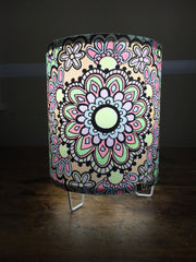 Emilie's Flower Mandala Pedestal colored with marker