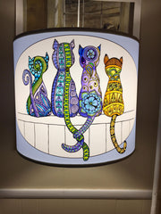 Judy Clement Walls Cats colored with marker