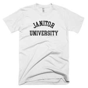 Janitor University Short-Sleeve T-Shirt, White