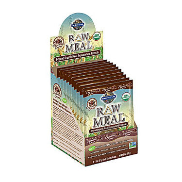 Garden of Life Raw Meal Organic Meal Replacement Formula Chocolate 10 x 3 oz Packs