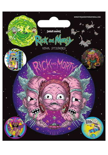 Rick And Morty Psychedelic Vinyl Sticker Set