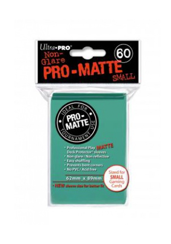 Ultra Pro Matte Sleeves (60 Small) - Aqua