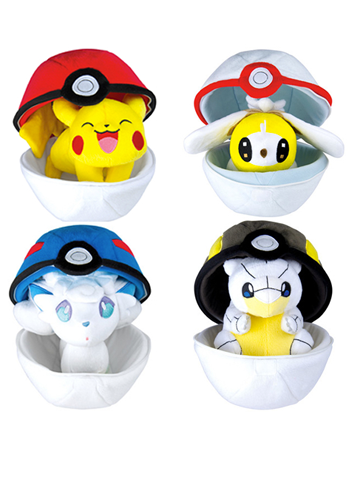 Pokemon Zipper Poke Ball Plush
