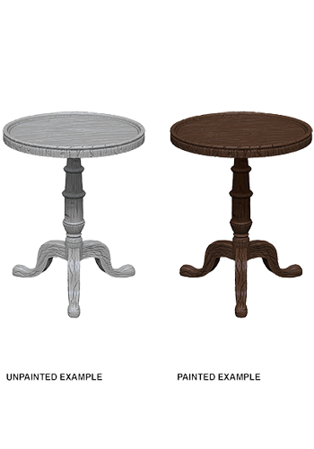 Small Round Tables (2) - Plastic Miniature