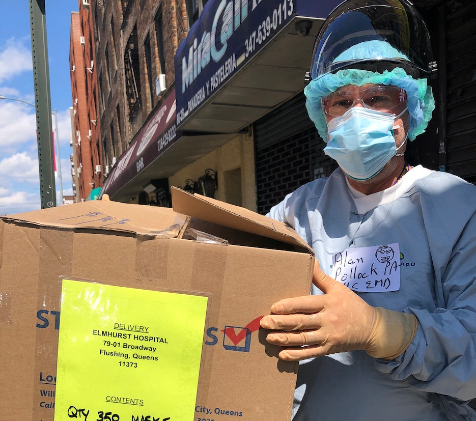 2,000 MASKS DONATED TO NYC HOSPITALS