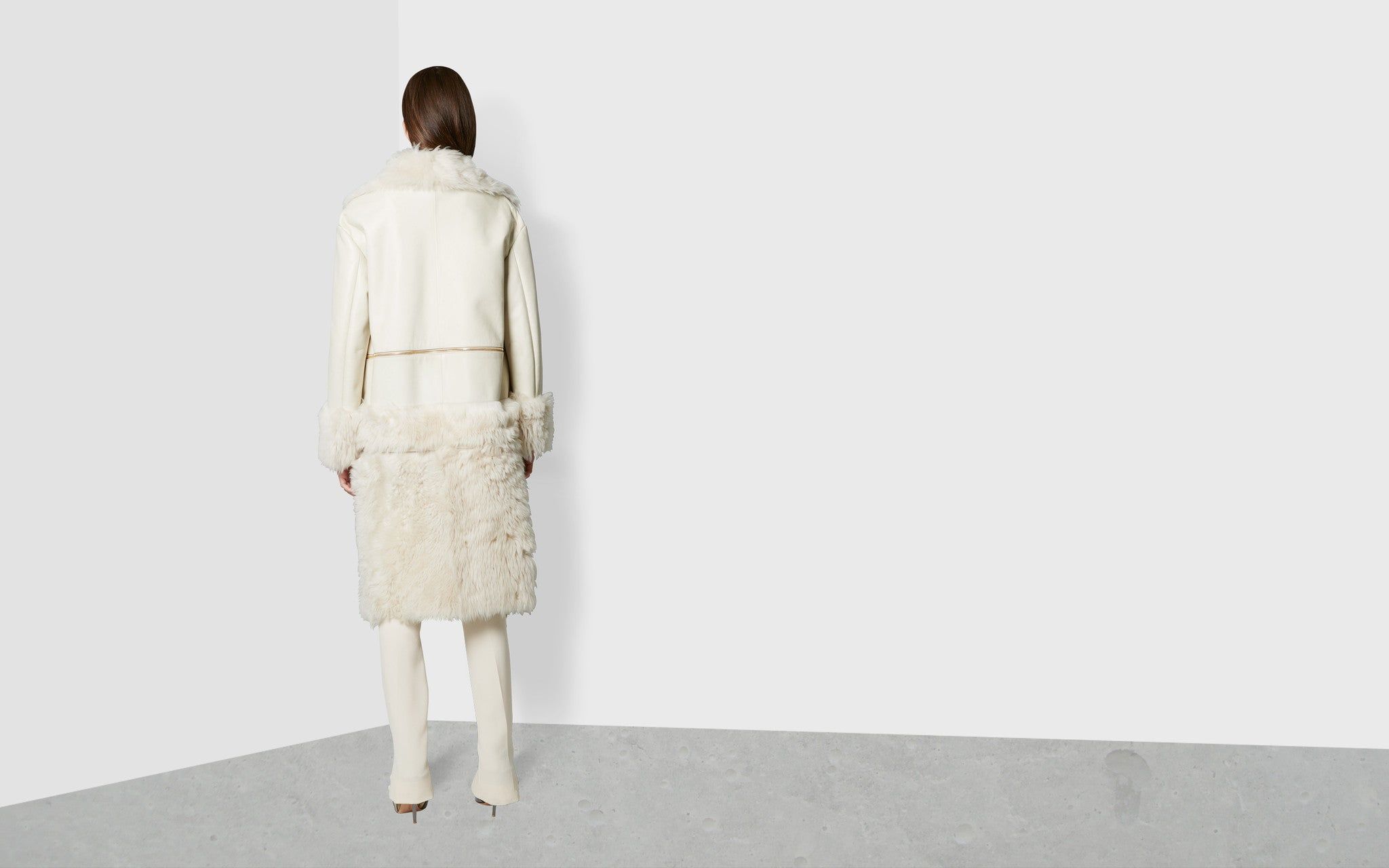 Long Hair Shearling Coat