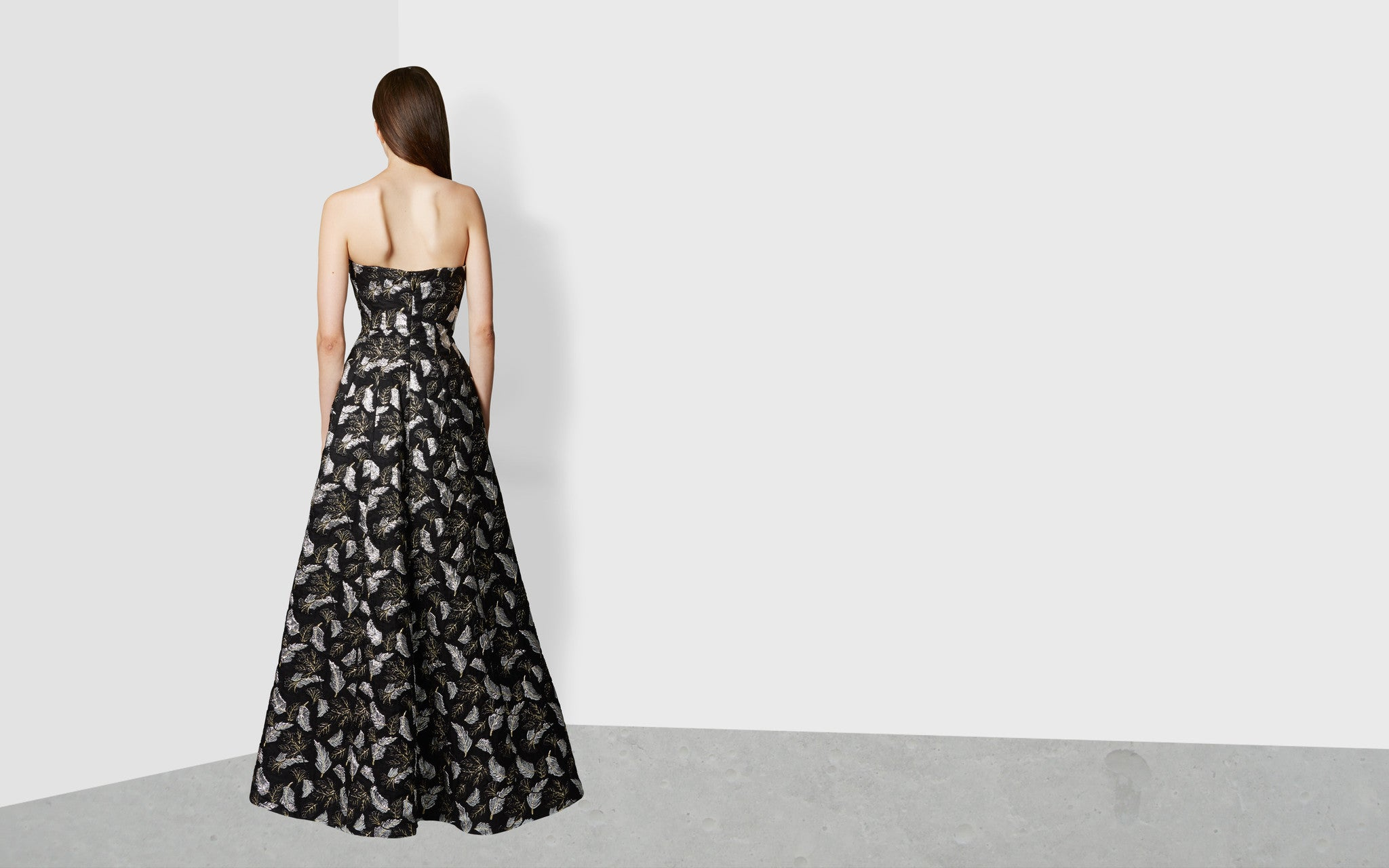 Strapless Molded Seam Gown