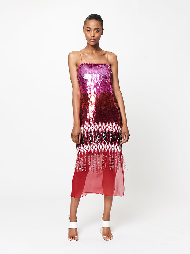 Prabal Gurung ILIANA IKAT EMBROIDERED DRESS