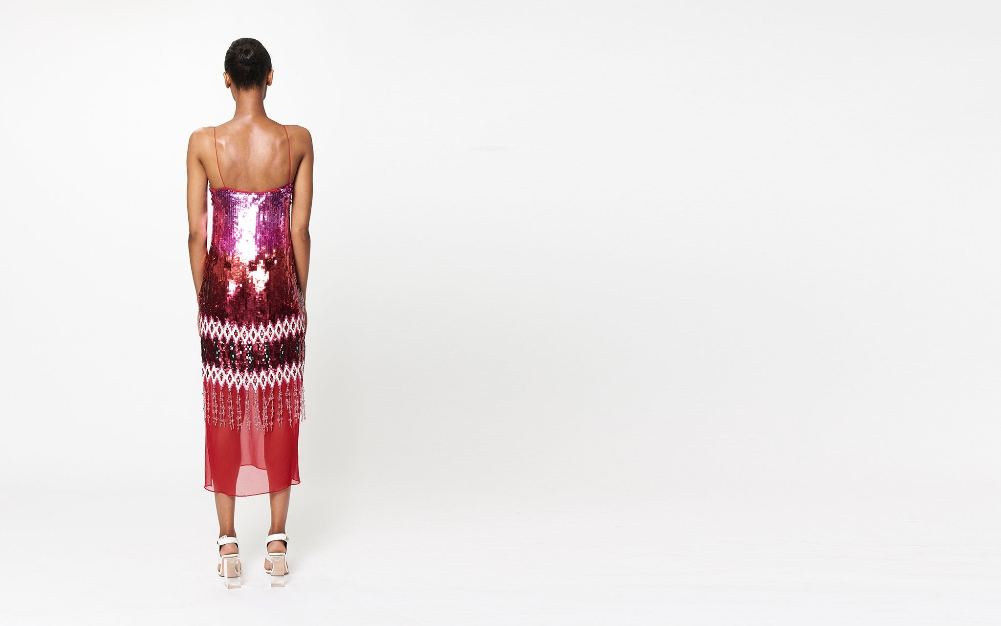 ILIANA IKAT EMBROIDERED DRESS