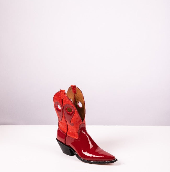 New West – Cardinal Patent + Croc Mix