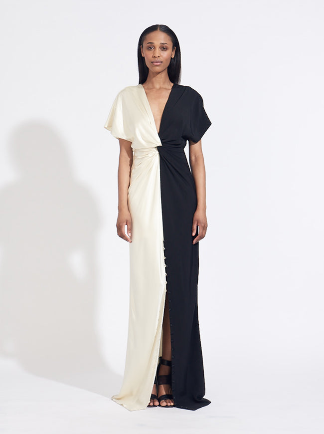 TWIST FRONT GOWN